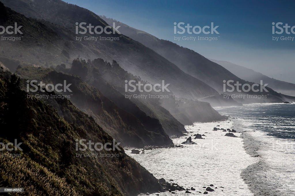 Foggy Coast stock photo