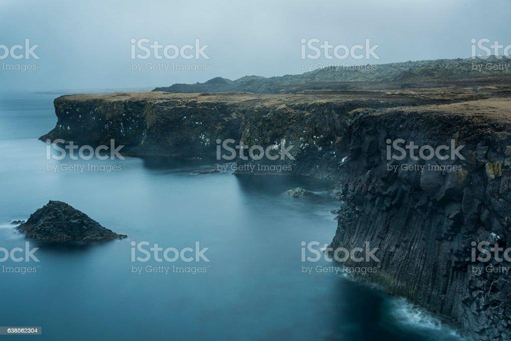 Foggy Coastline stock photo
