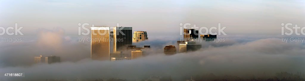 foggy day in century city royalty-free stock photo