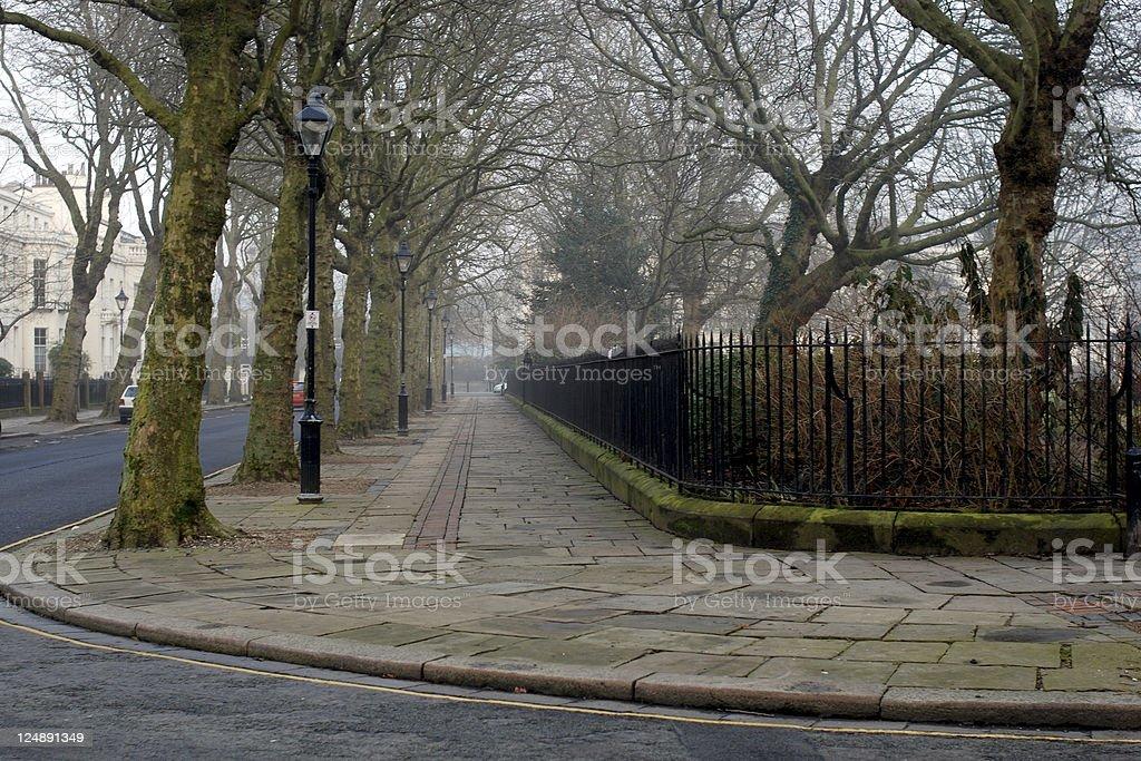 Foggy England royalty-free stock photo