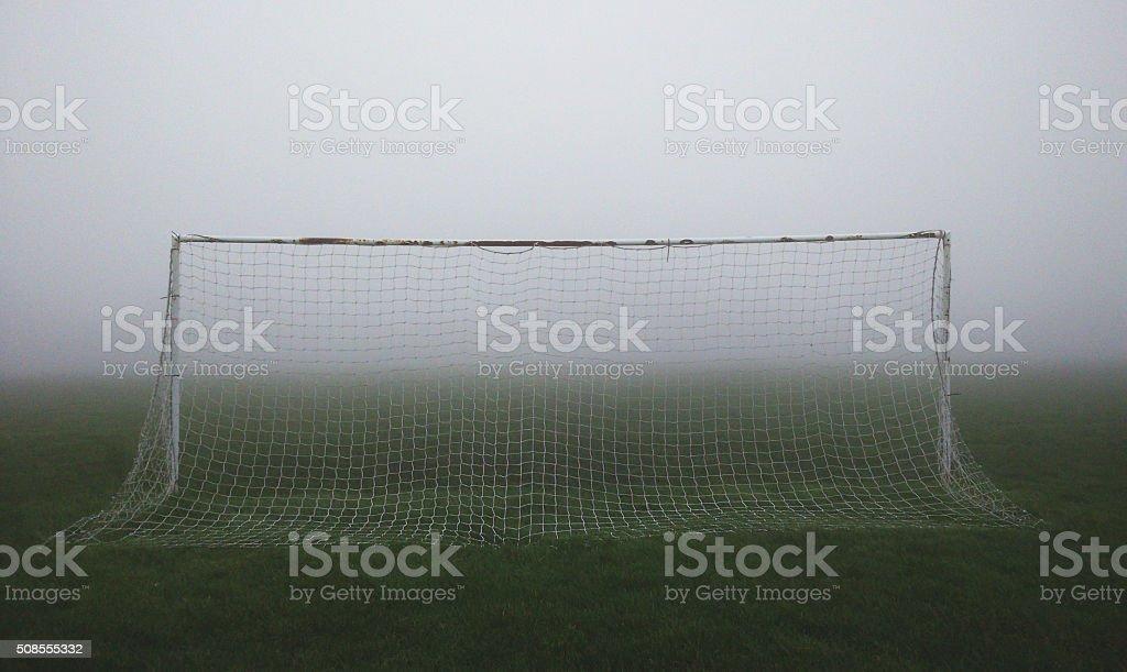 Foggy Football stock photo