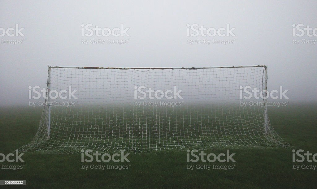 Foggy Football stock photo