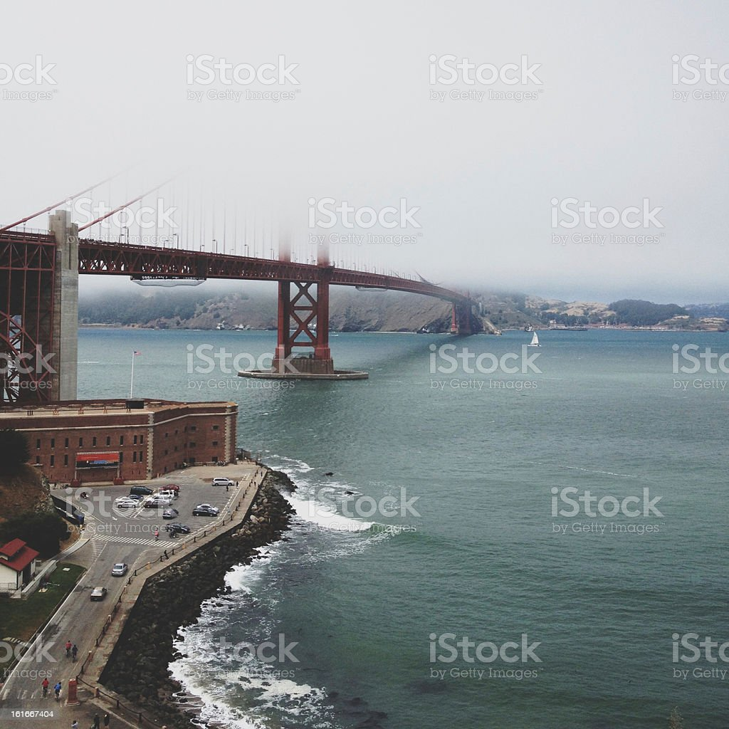 Foggy Golden Gate royalty-free stock photo