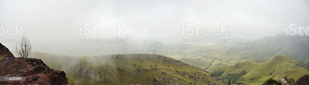 Foggy hills stock photo