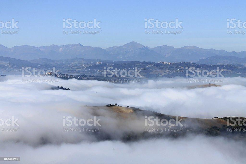Foggy landscape royalty-free stock photo