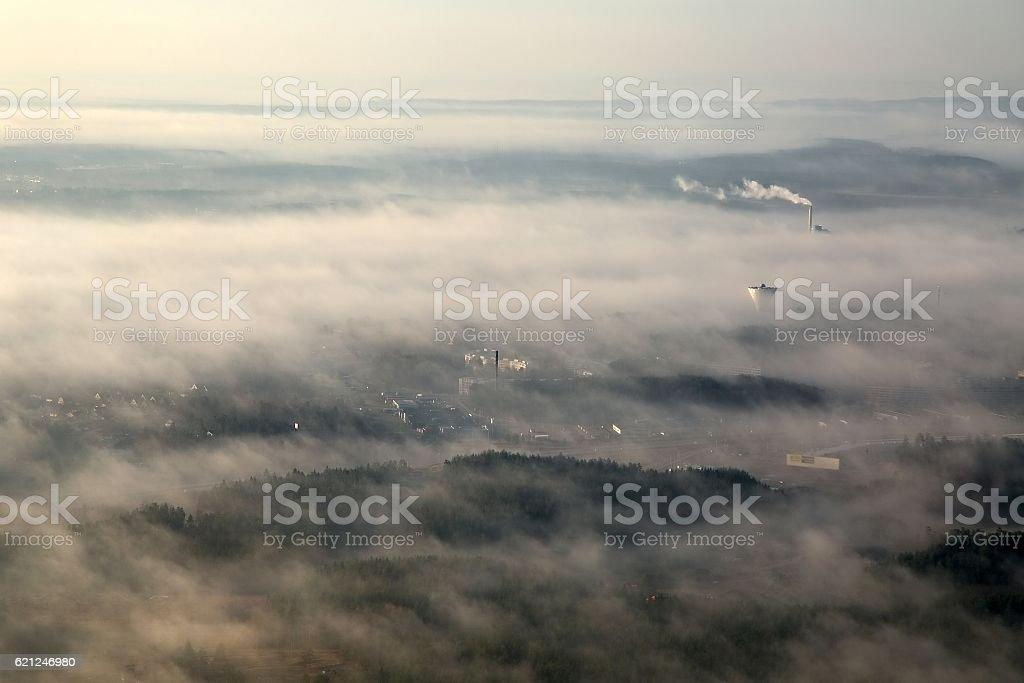 Foggy Landscape stock photo