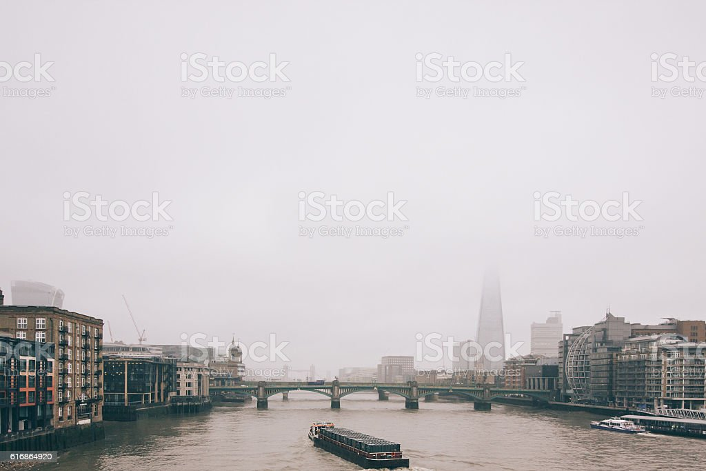 Foggy London stock photo