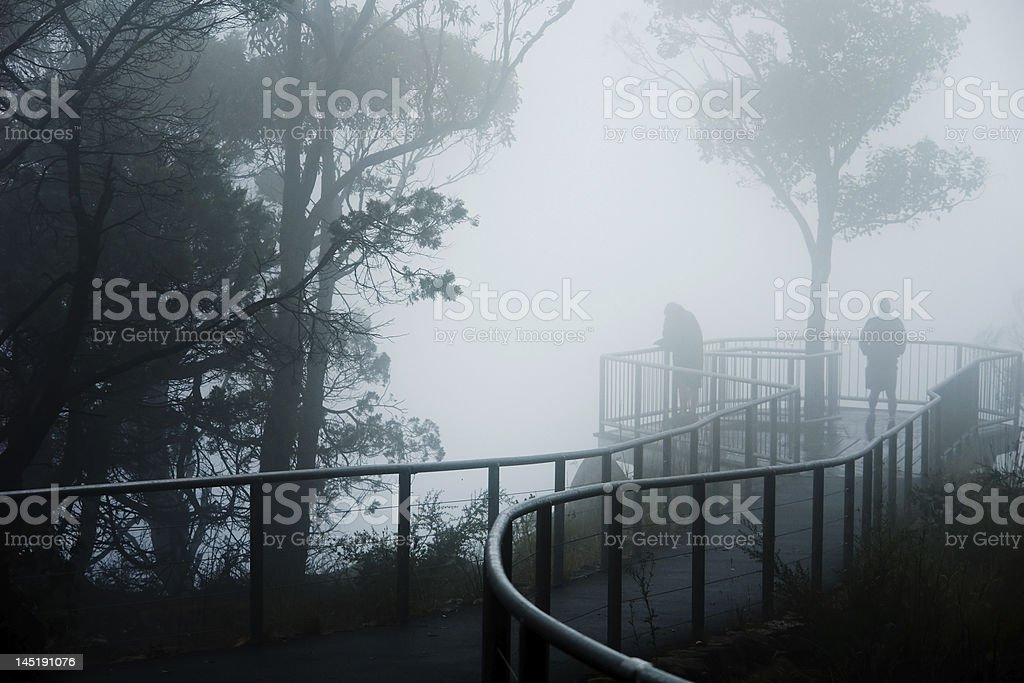 Foggy Lookout stock photo