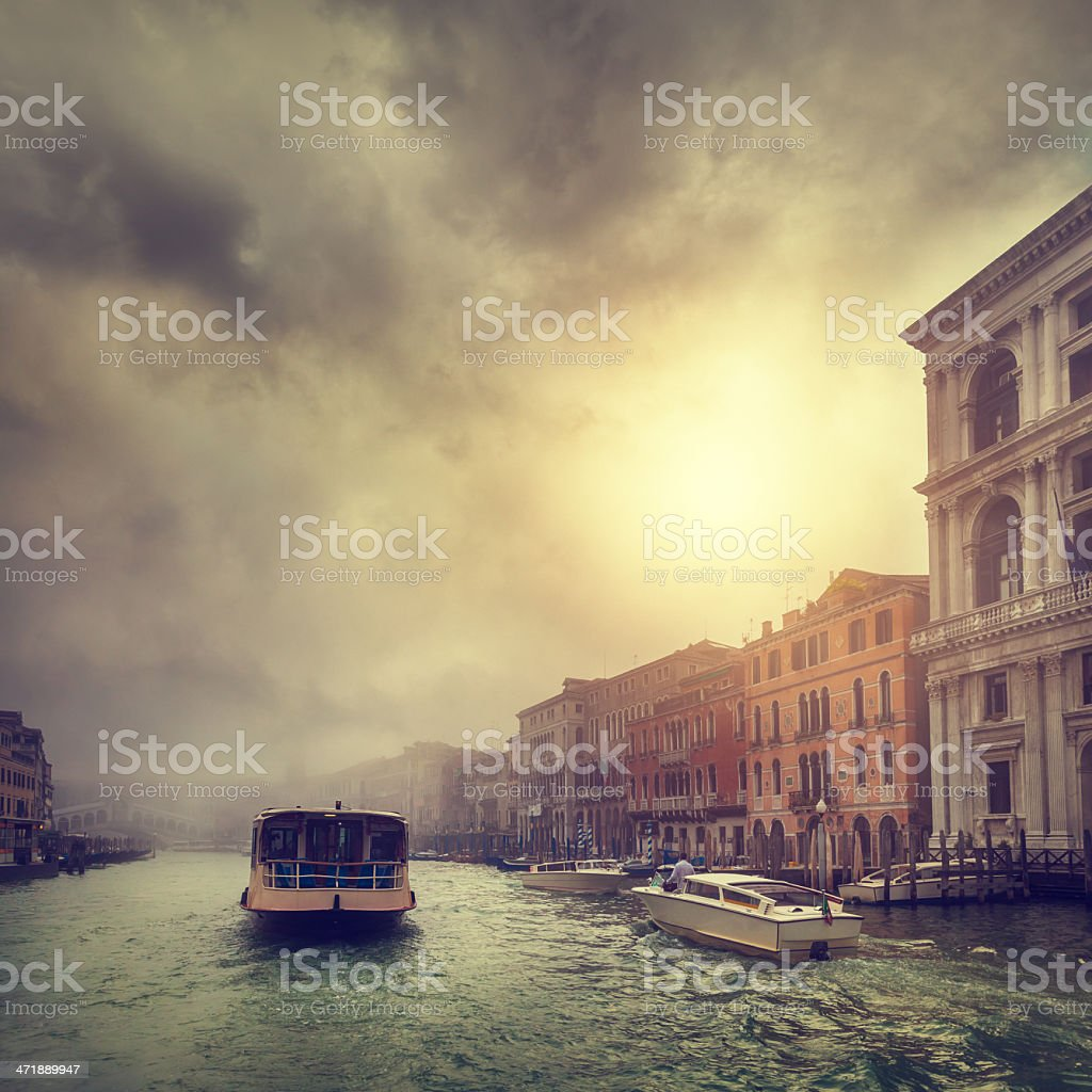 foggy morning in Venice royalty-free stock photo