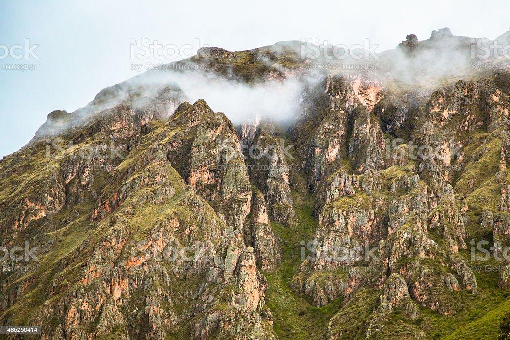 Foggy Mountain Peaks stock photo