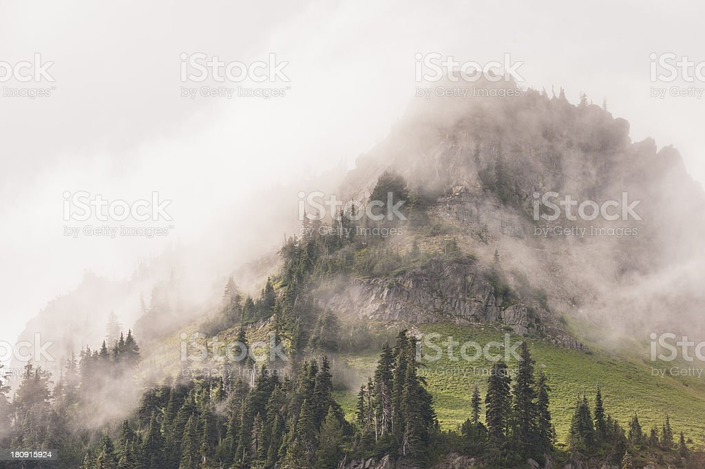 Foggy Mountain royalty-free stock photo