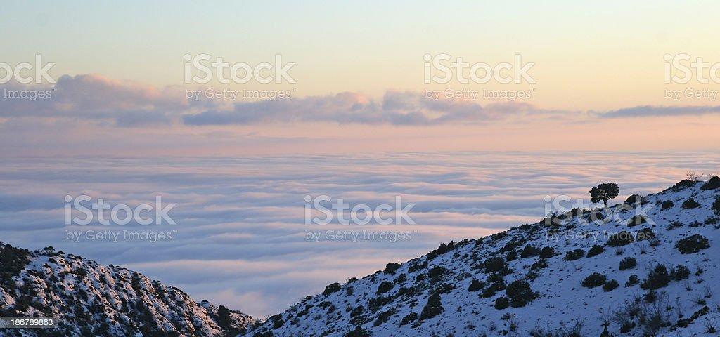 Foggy mountains royalty-free stock photo
