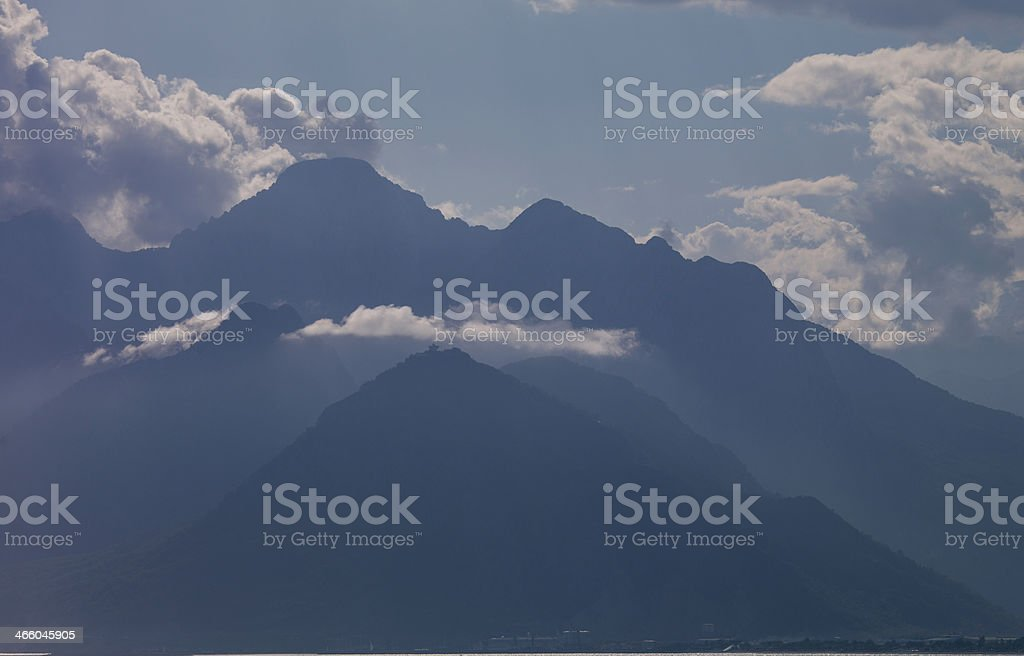 Foggy mountains - Stock Image royalty-free stock photo