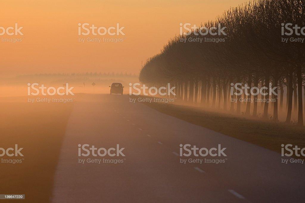 foggy royalty-free stock photo