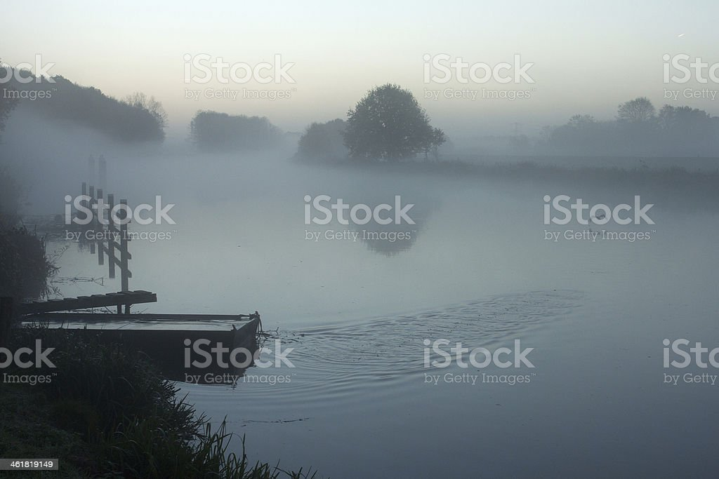 Foggy river Lizenzfreies stock-foto
