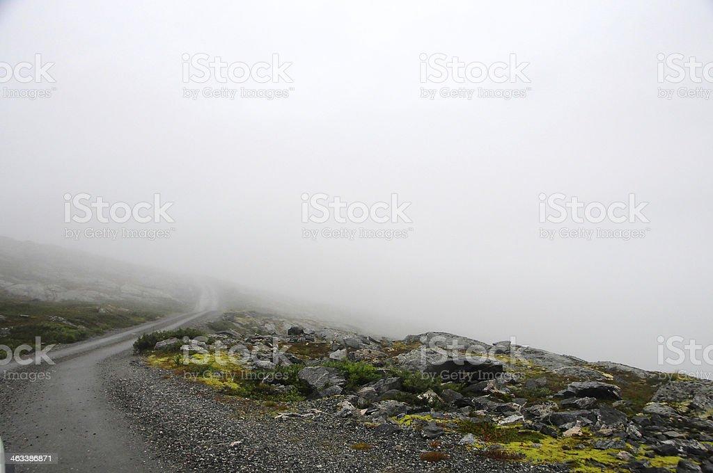 Foggy road foto royalty-free