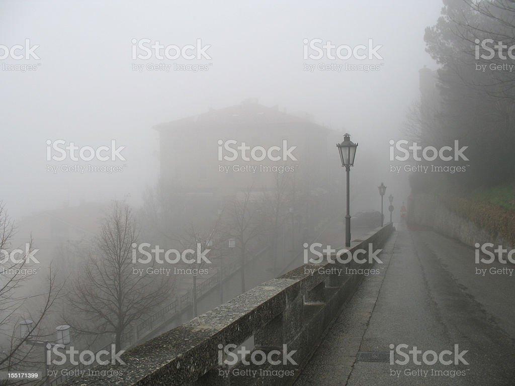 Foggy San Marino royalty-free stock photo