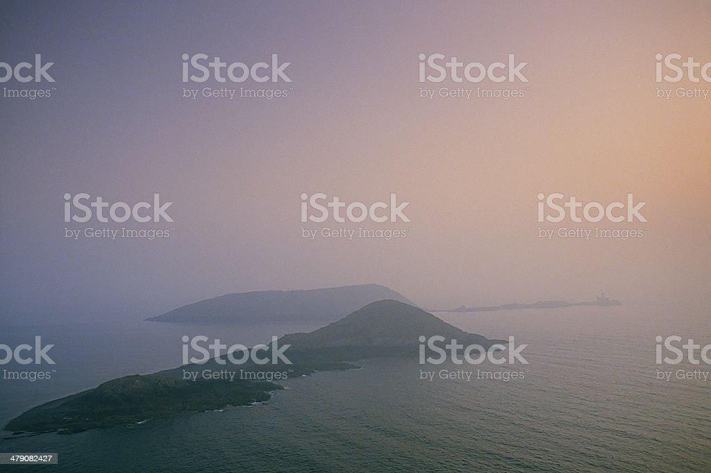 Foggy sea stock photo