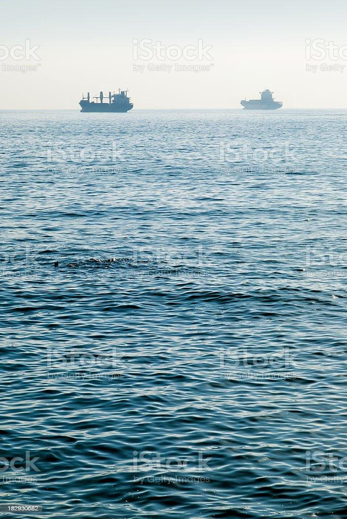Foggy Seascape royalty-free stock photo