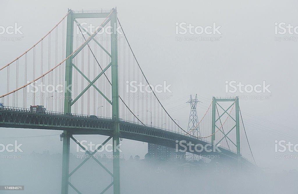 Foggy Span royalty-free stock photo