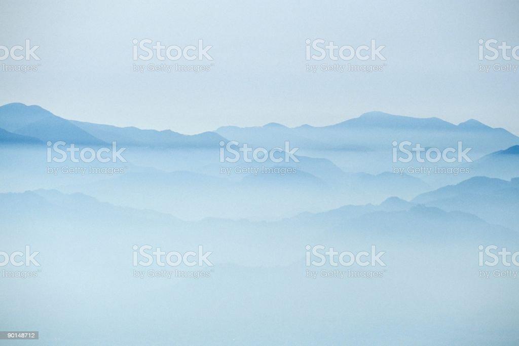 foggy valley XXLarge stock photo