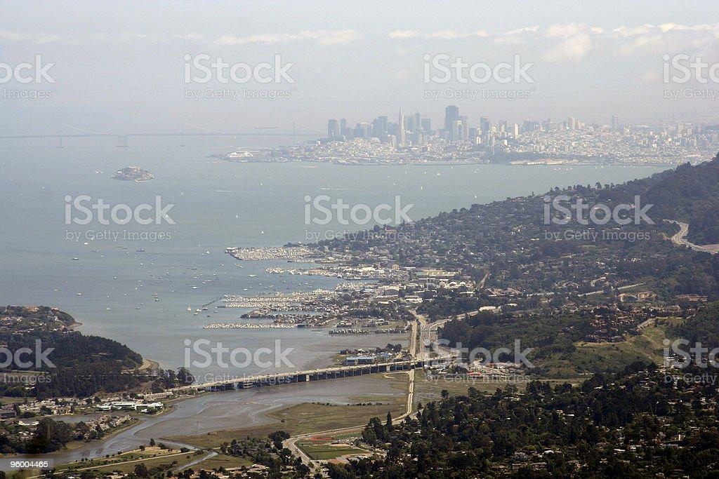 Foggy View of San Francisco royalty-free stock photo