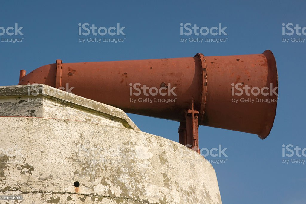 Foghorn at Sumburgh Head Shetland Isles now disused royalty-free stock photo