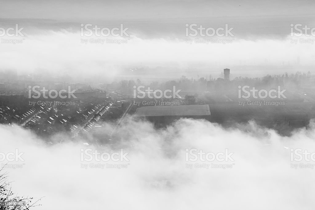 Fogy day stock photo