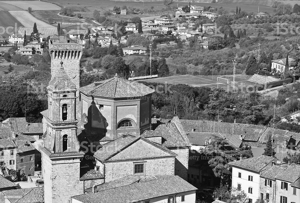 Foiano in the province of Arezzo in Tuscany stock photo