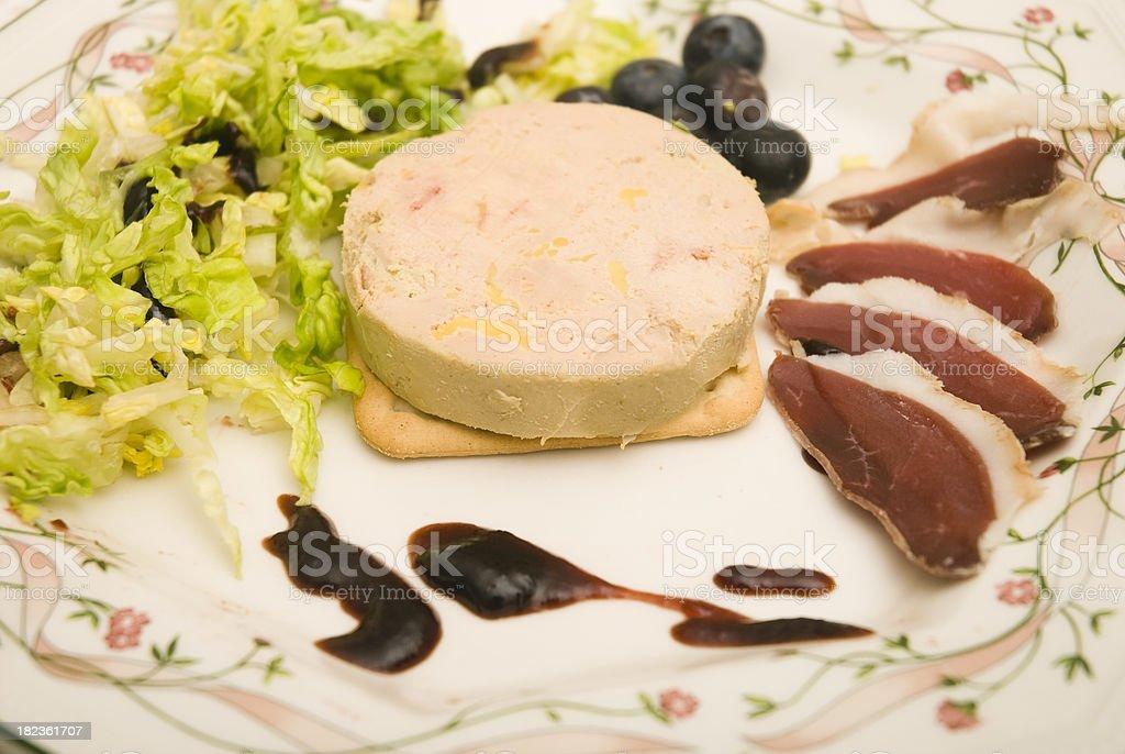 Foie gras dish stock photo