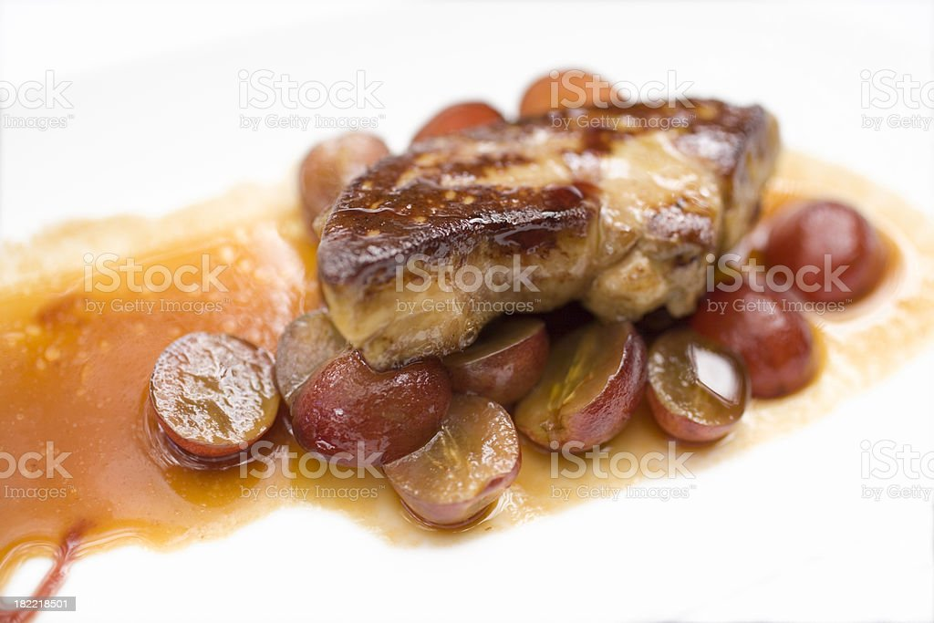 foie gras isolated on white royalty-free stock photo