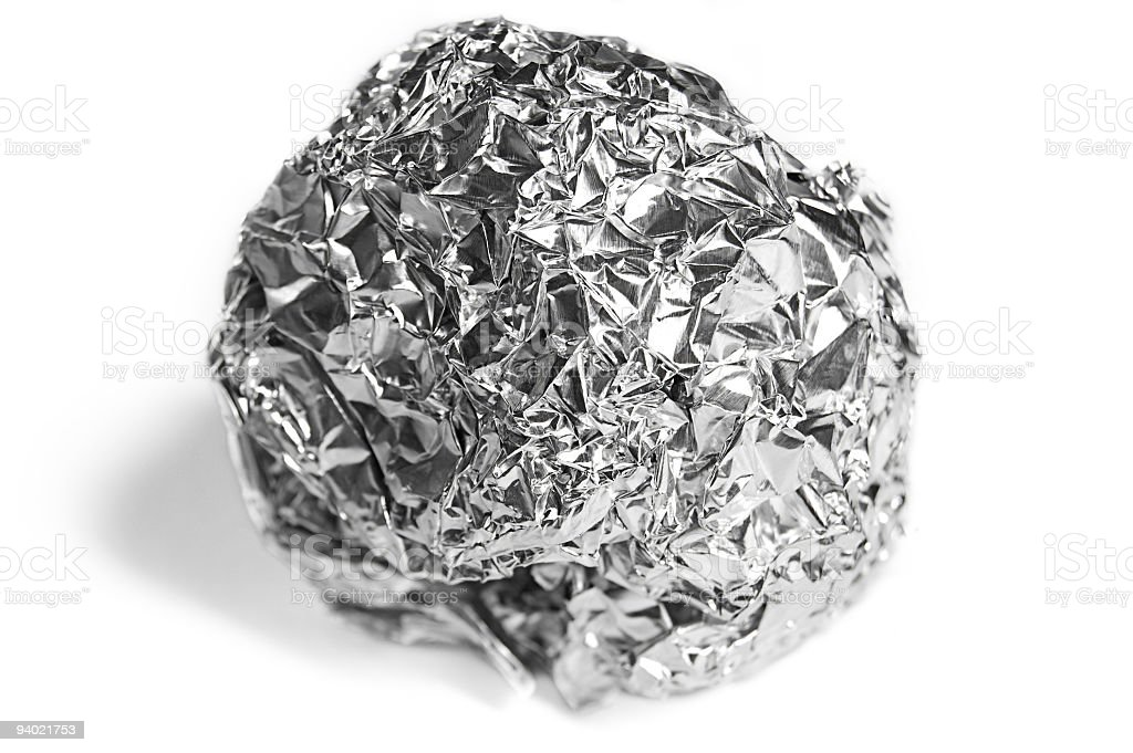 Foil Ball Isolated on White royalty-free stock photo