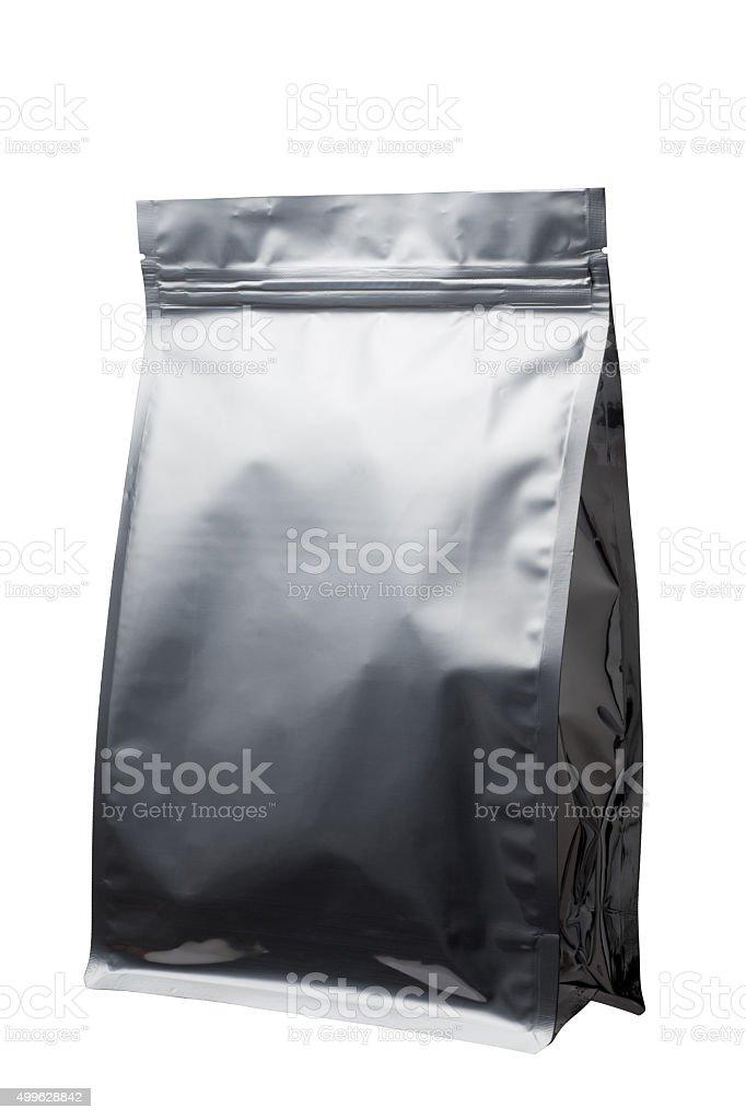 Foil food bag packaging stock photo