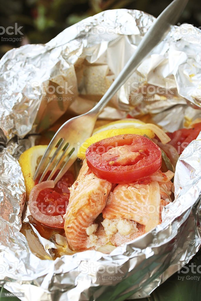 Foil Packet Fish royalty-free stock photo