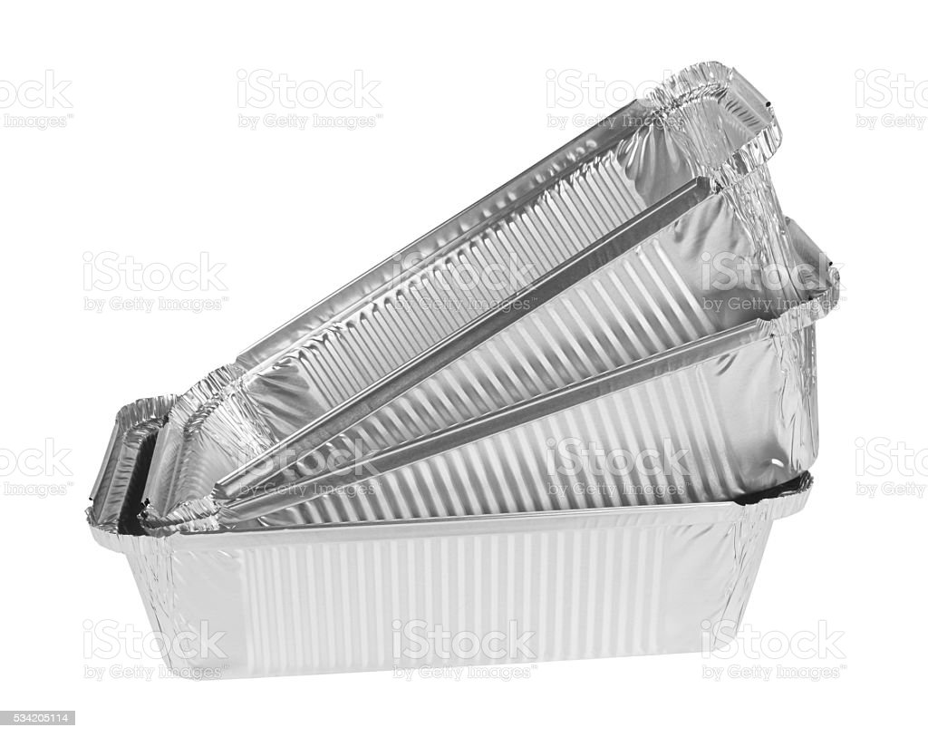 Foil tray stock photo