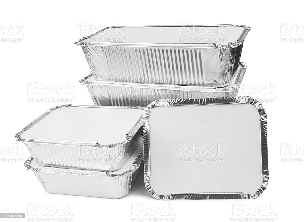 Foil trays stock photo
