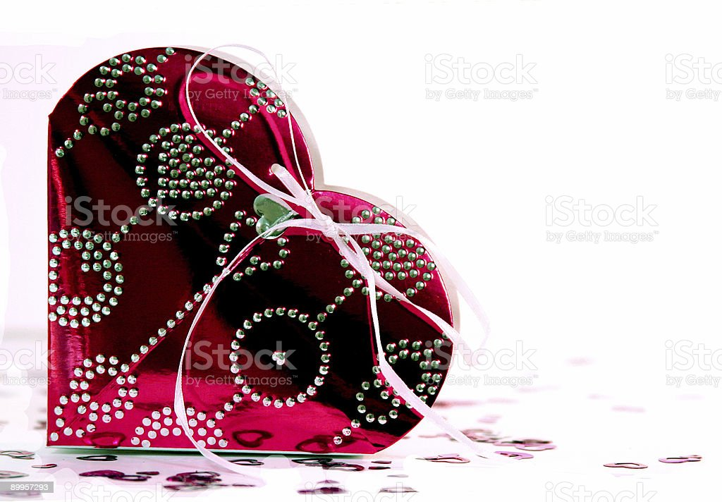 Foil Valentine Giftbox 3 royalty-free stock photo
