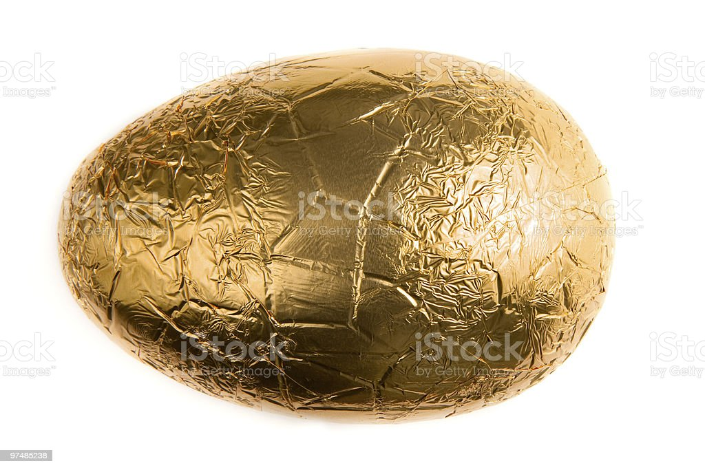 Foil Wrapped Easter Egg stock photo