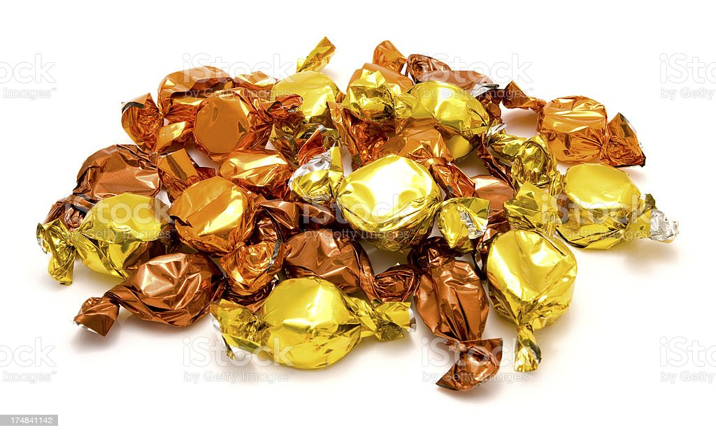 Foil wrapped sweets royalty-free stock photo