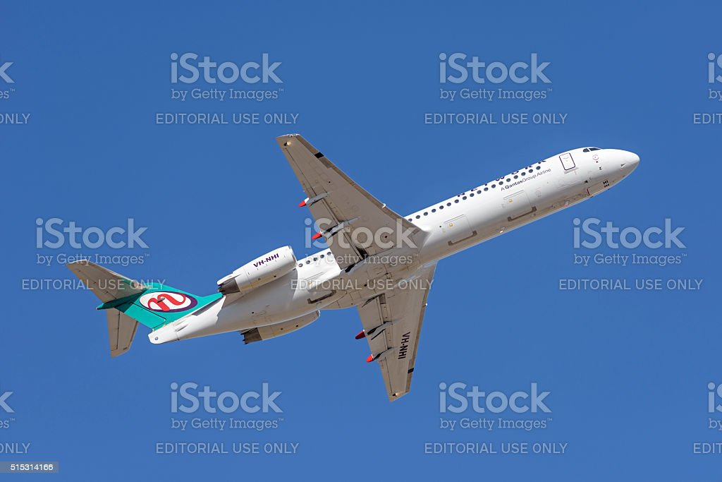 Fokker 100 VH-NHI from Network Aviation - Quantas Group Airline stock photo