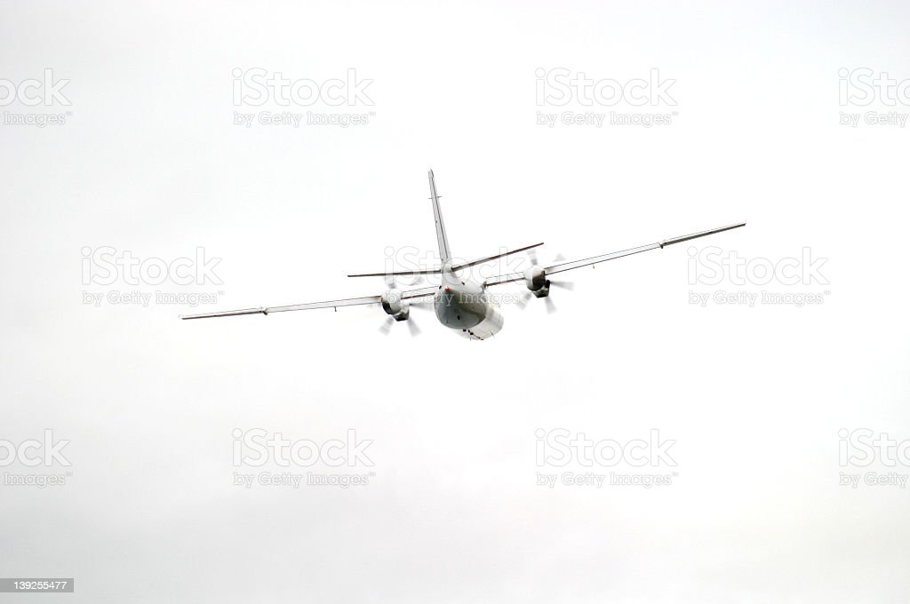 Fokker 50 stock photo