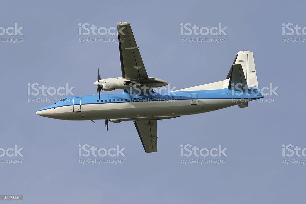 Fokker 50 royalty-free stock photo