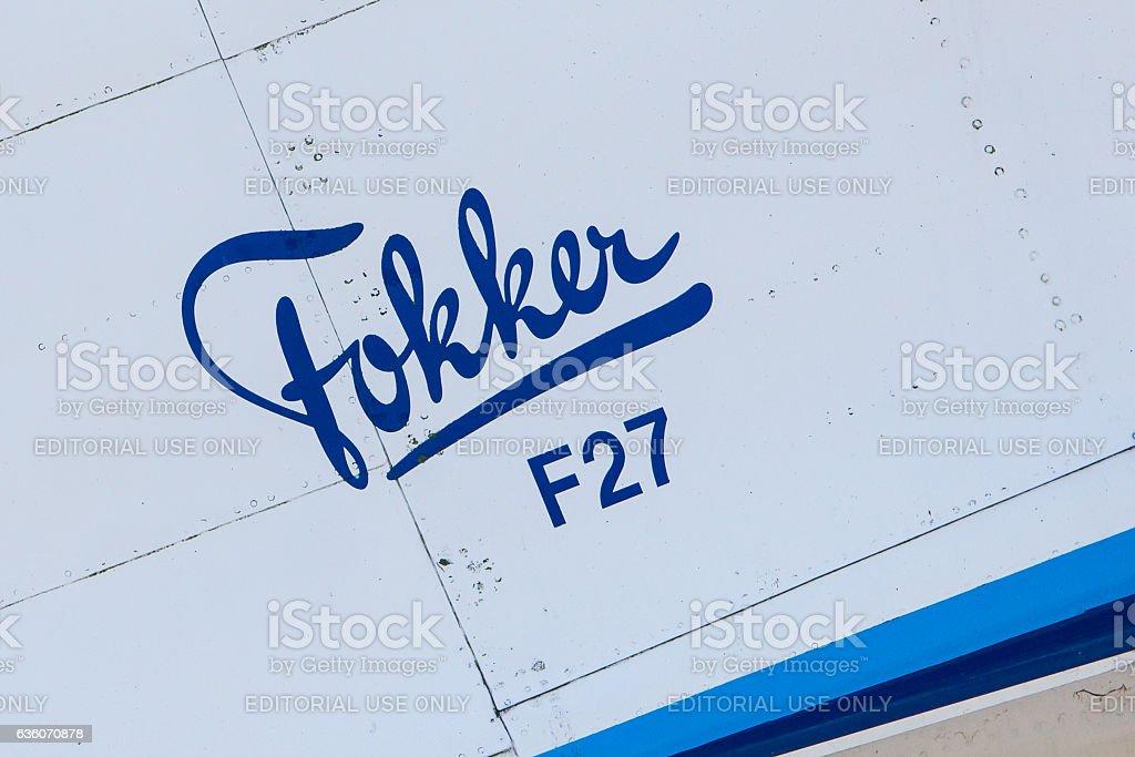 Fokker F27-200MAR Friendship stock photo