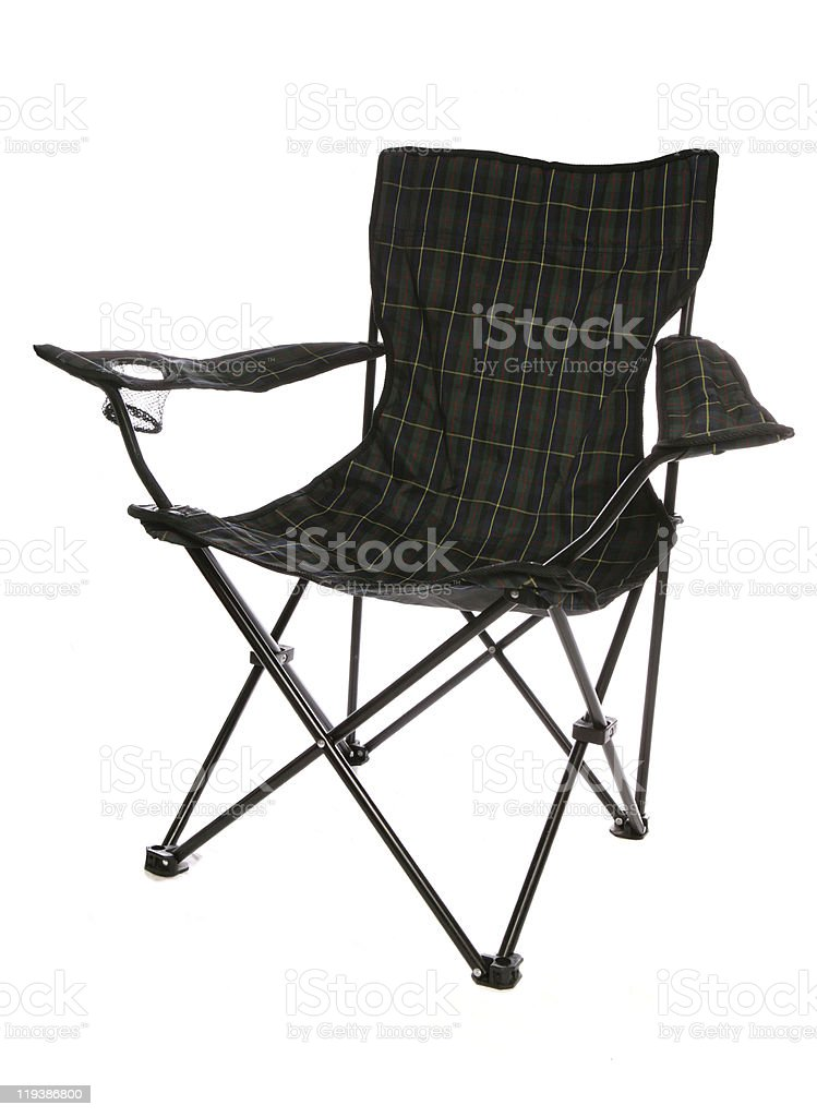 fold up chair stock photo