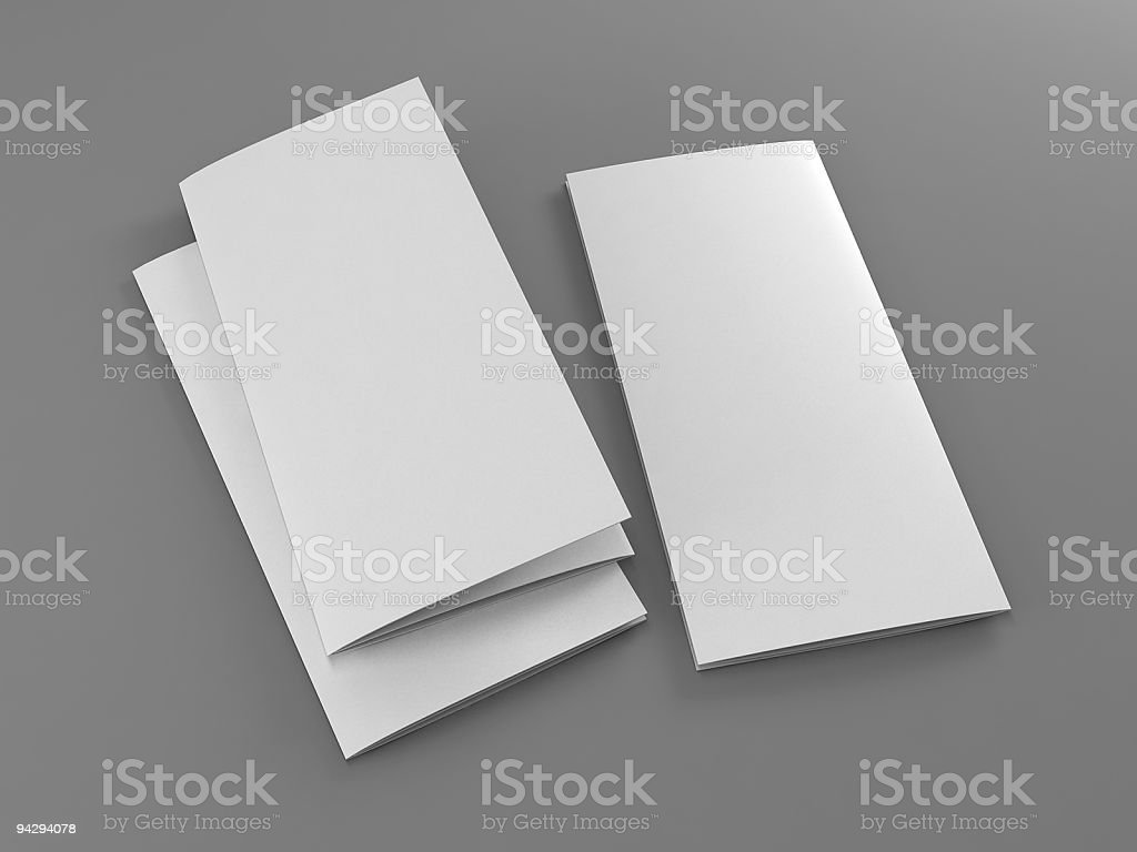 folded 3 sides flyer template royalty-free stock photo