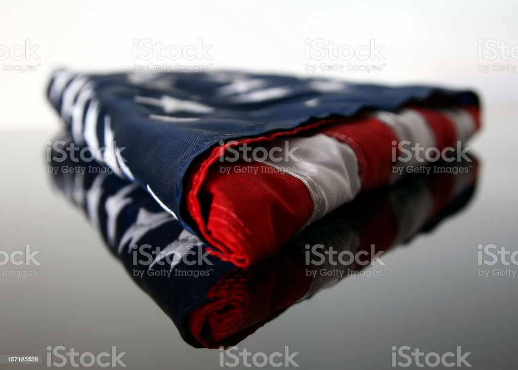 Folded American Flag stock photo