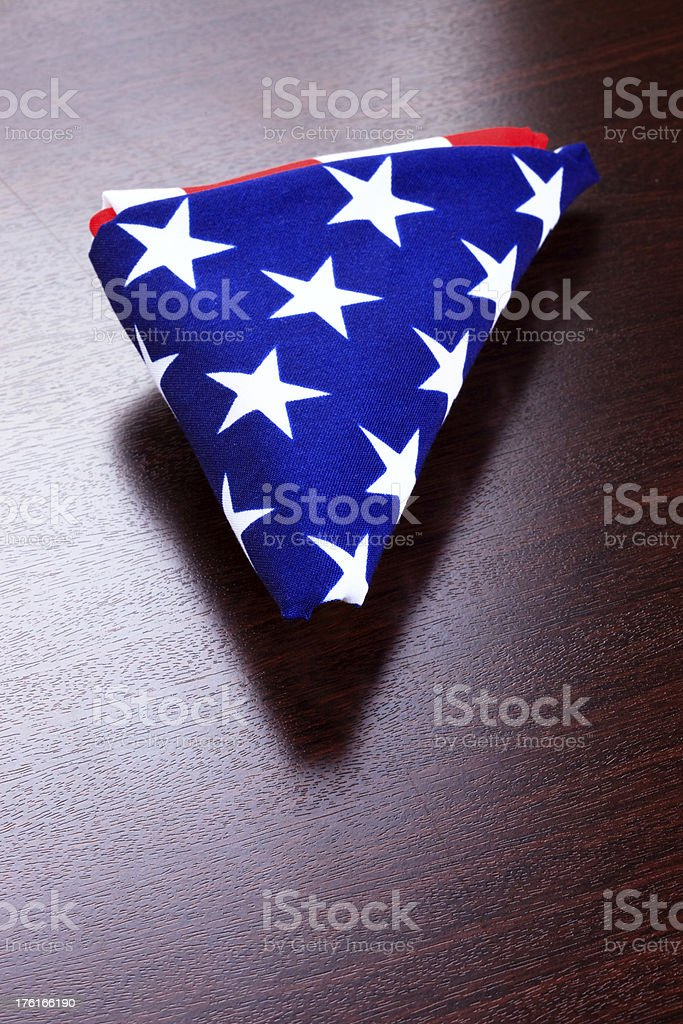 Folded American Flag (xxxl) royalty-free stock photo
