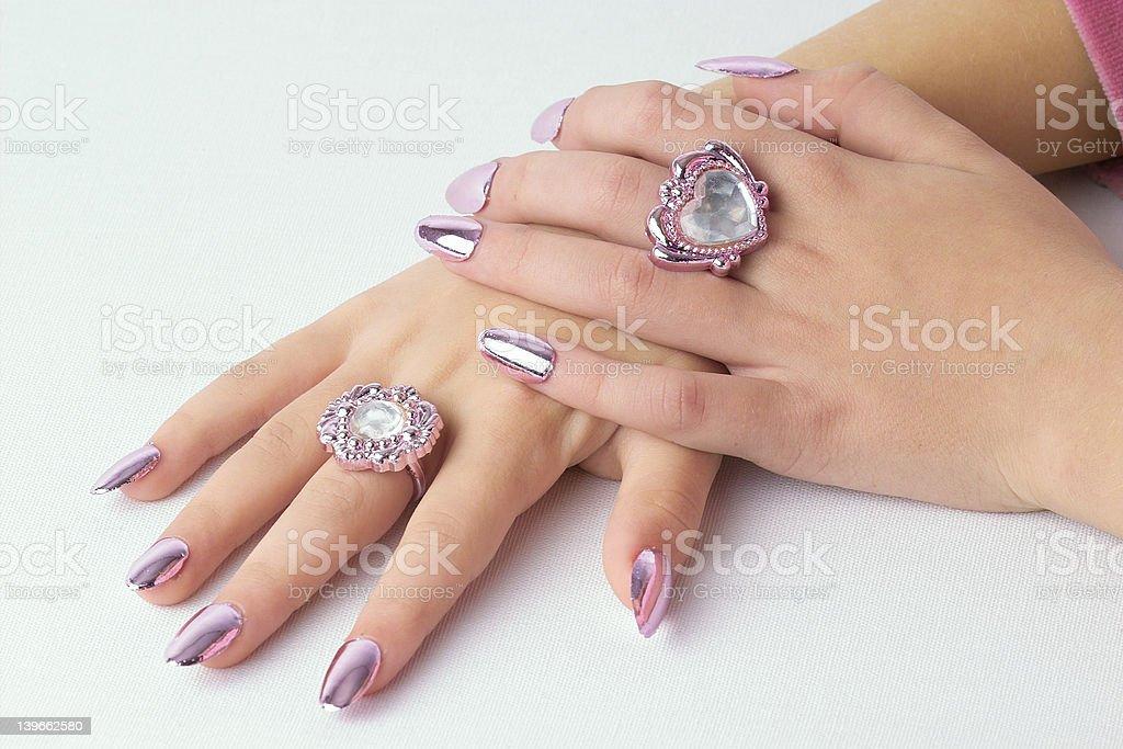 Folded beautiful hands royalty-free stock photo