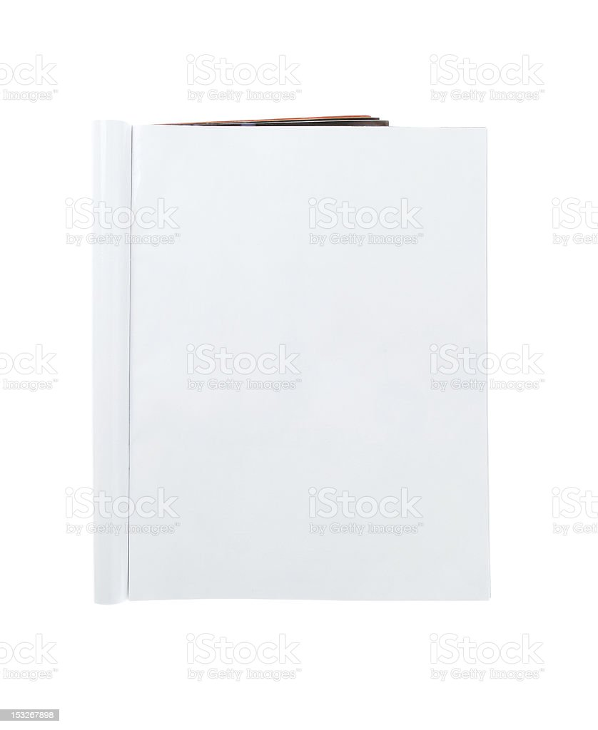Folded blank magazine with copy space stock photo
