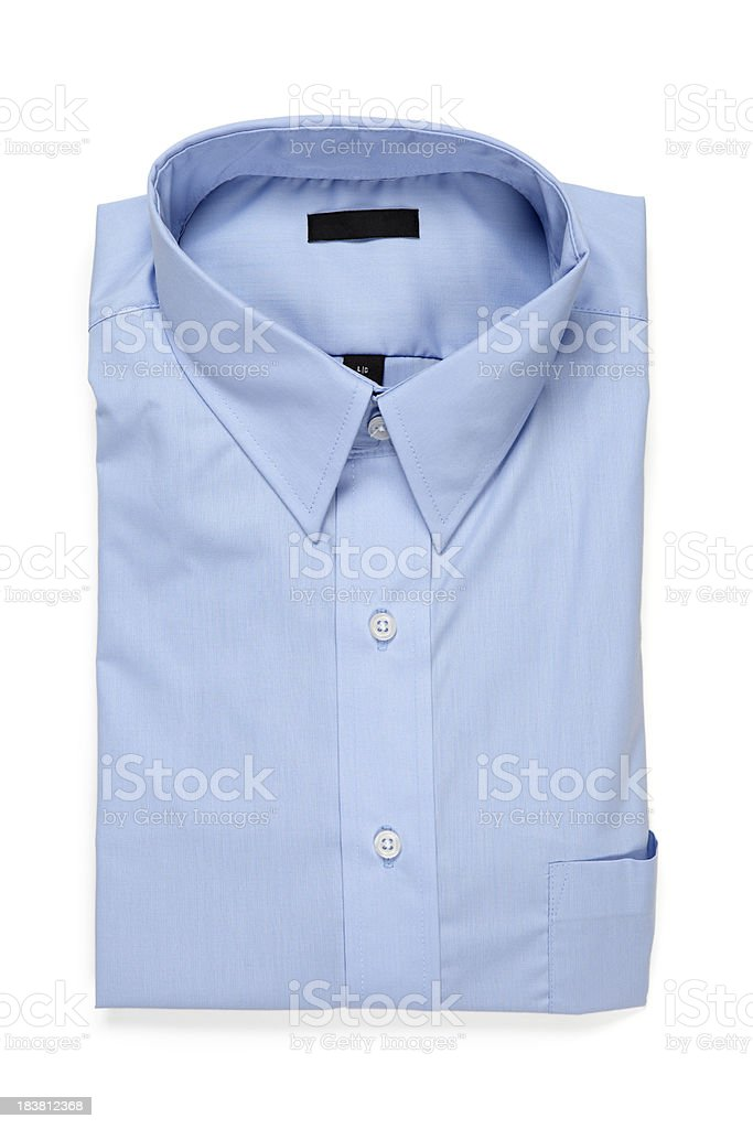 Folded Blue Men's Shirt royalty-free stock photo